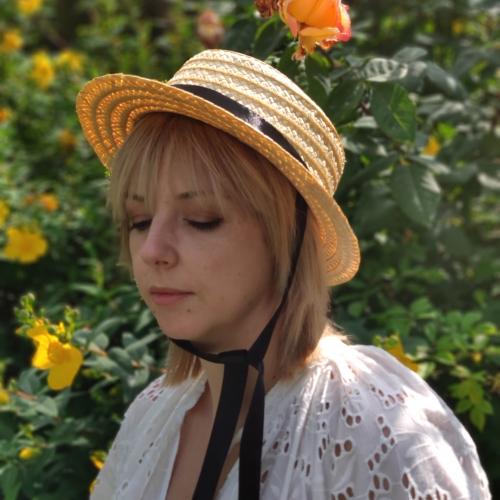 Straw hat, Straw Boater woman hat, summer hat, spring hat, Wedding Hat, chapeau de paille, Strohhut, sombrero de paja.