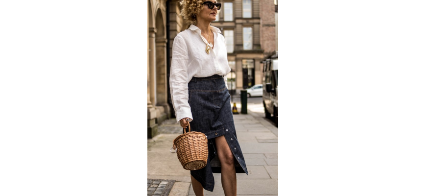 DENIM SKIRT FROM TIBI